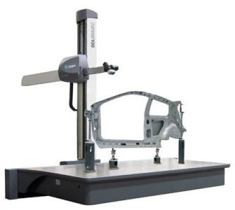 Coordinate Measuring Machine (CMM) With Part